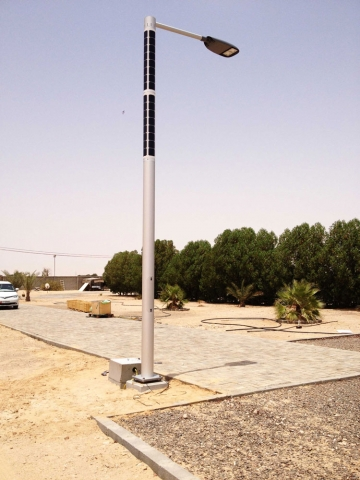 Soluxio solar-powered light column