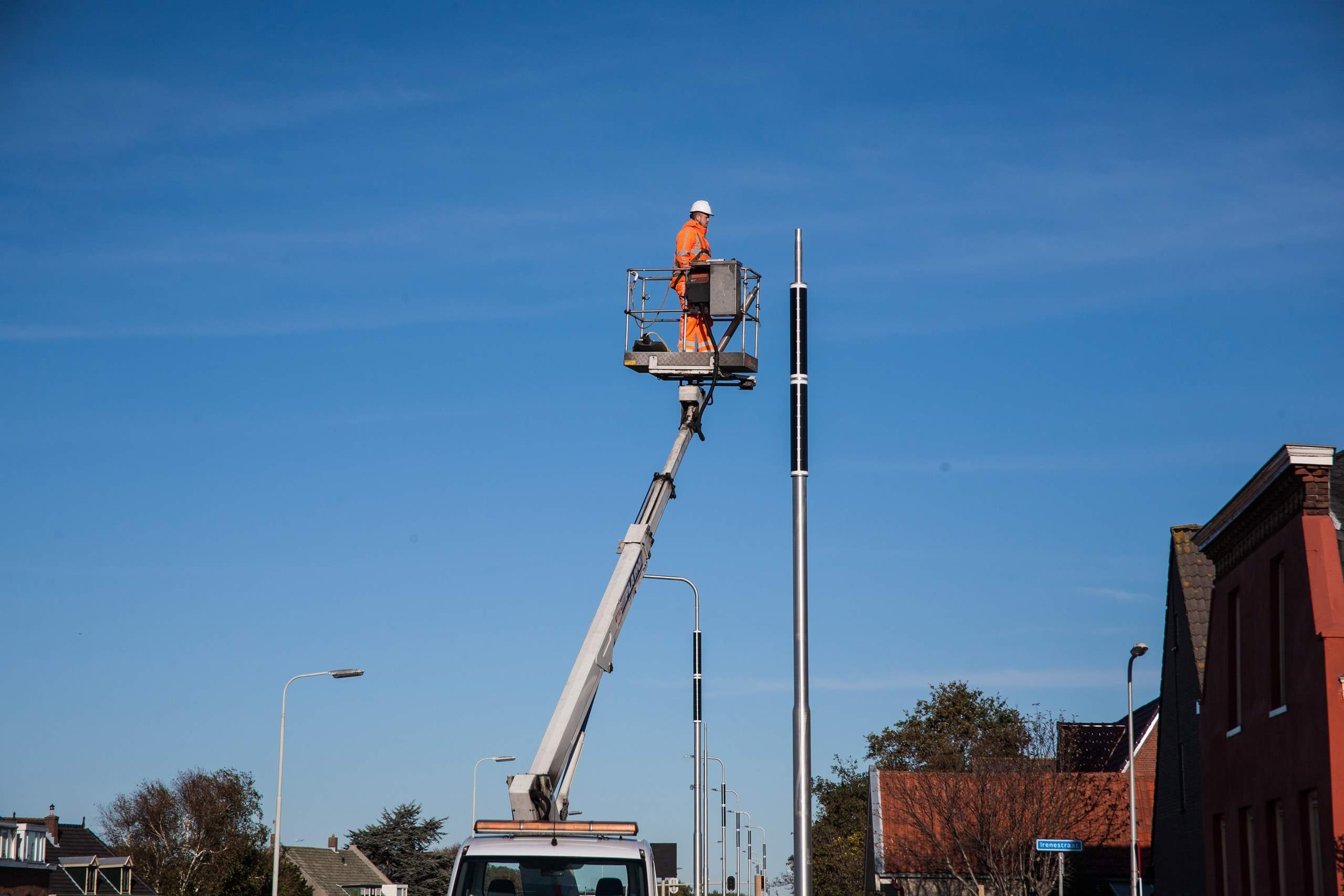 Solar light post installation