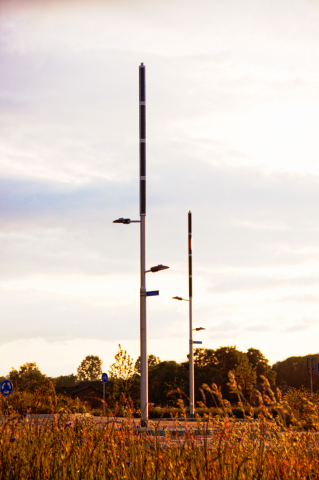 Soluxio hybrid solar light at dutch sustainable road and smart city ready lighting