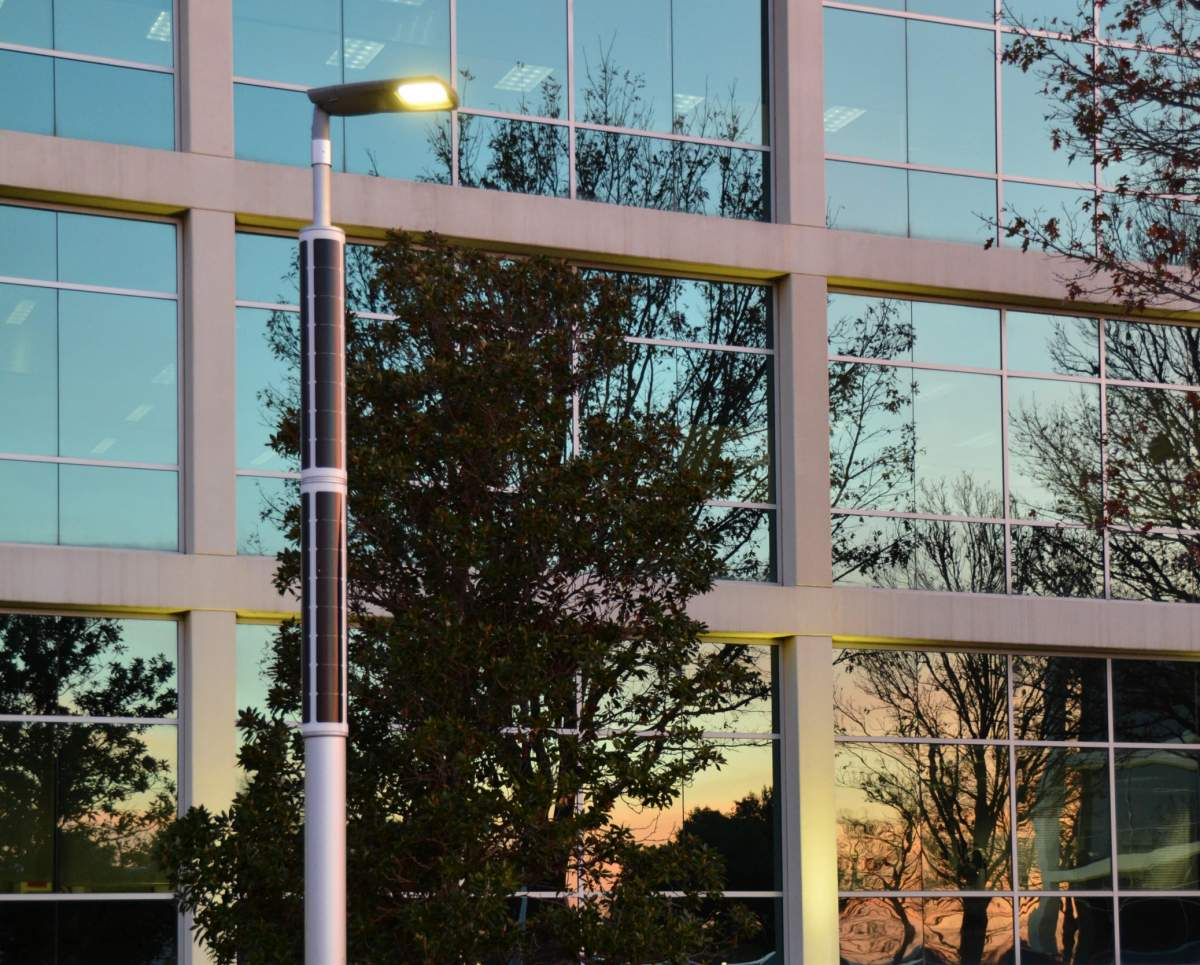 Soluxio smart solar light pole at smart city