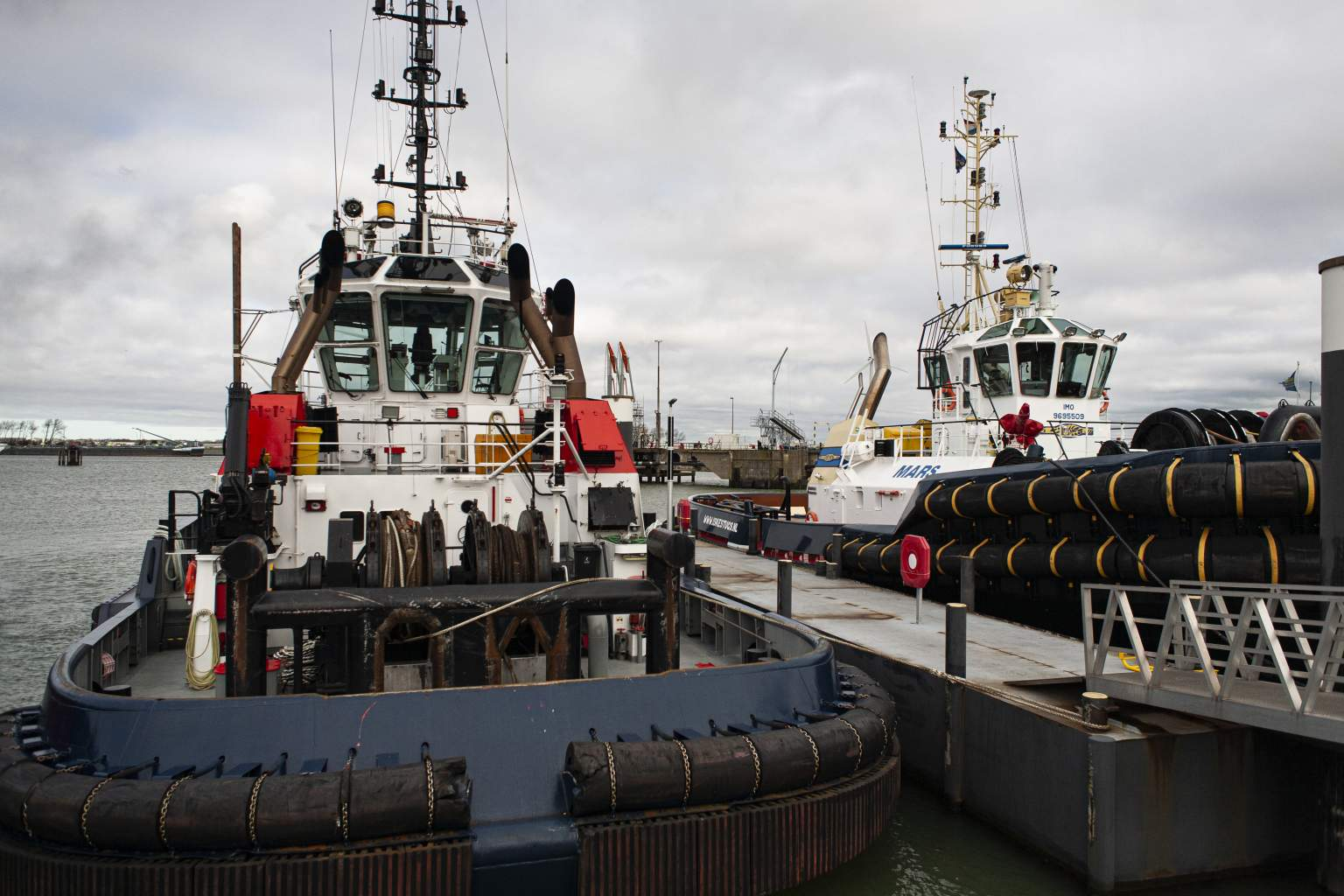 Tugboats with industrial solar lighting