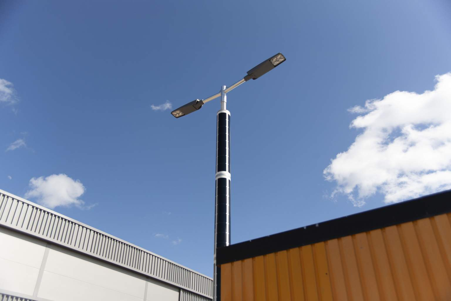 Soluxio solar lighting for a public parking lot in Maastricht, the Netherlands