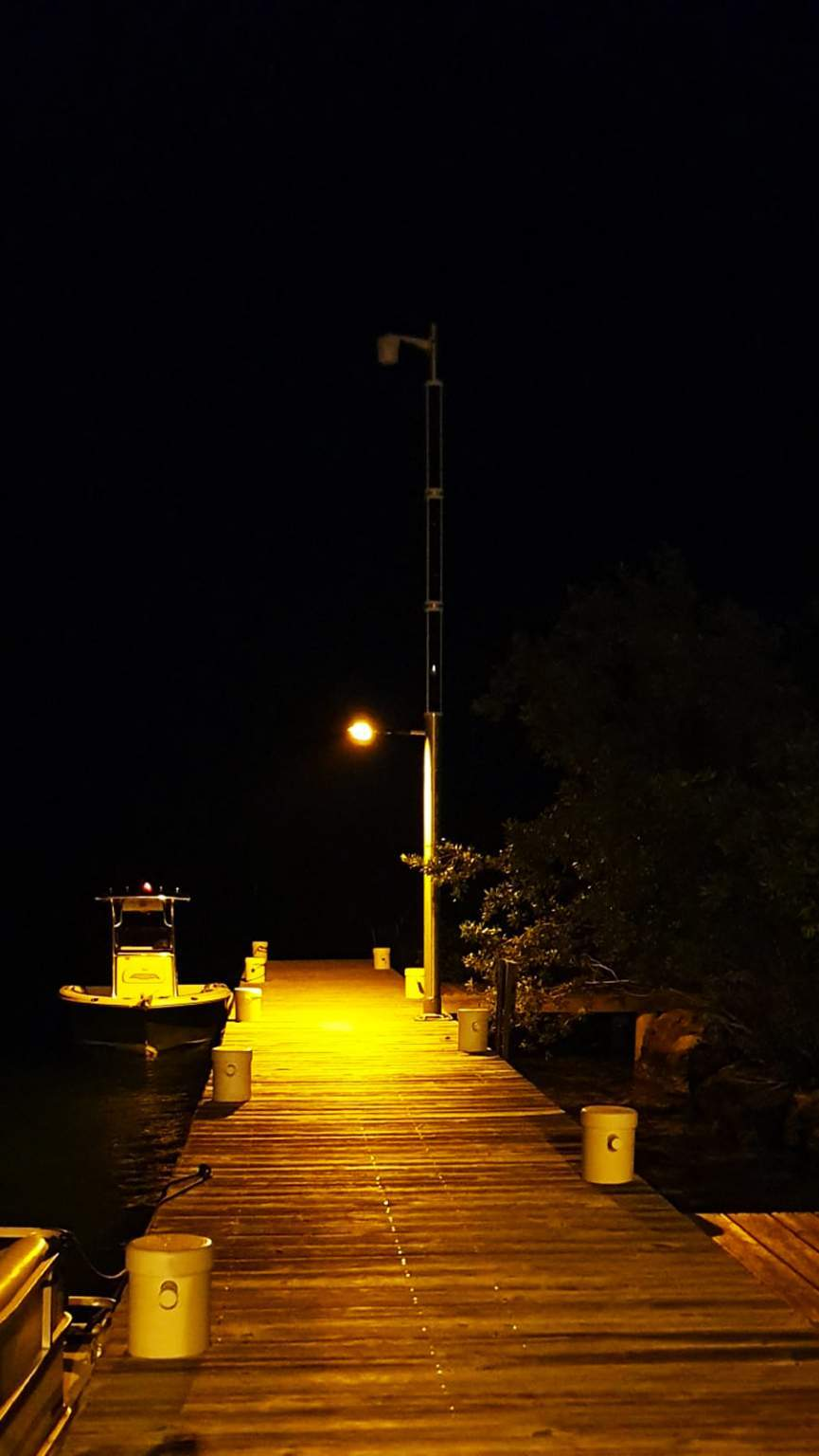 Solar powered WiFi and light at night