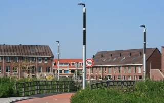 Soluxio eco solar pv modules streetlights Katwijk the Netherlands