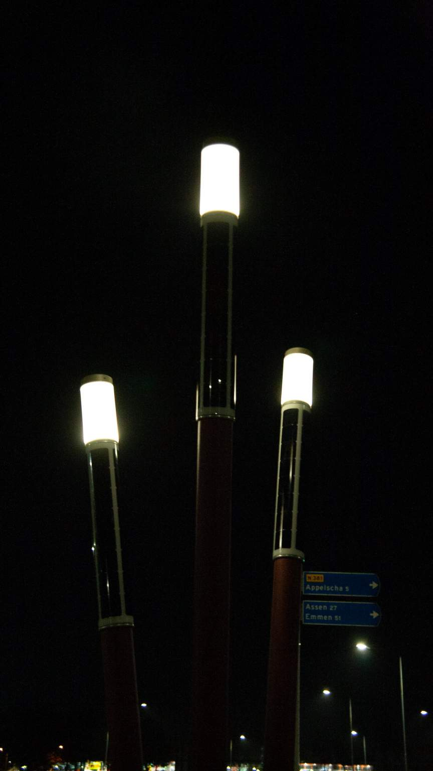 Soluxio Lightsticks with white light in Friesland, Holland