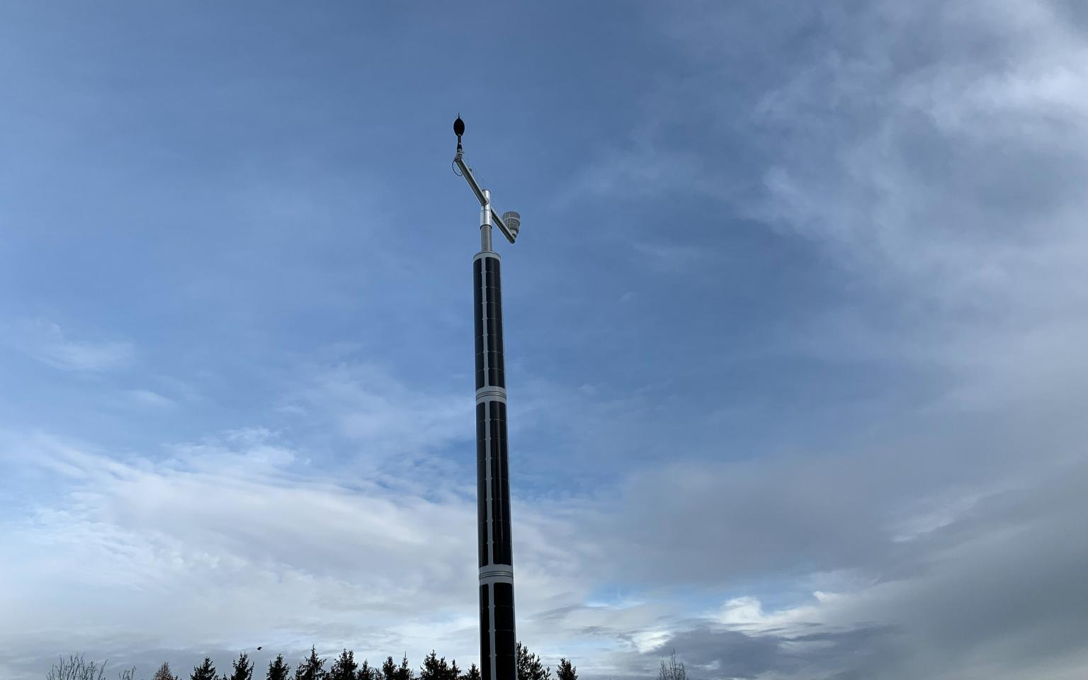 Solar-powered Soluxio during winter time